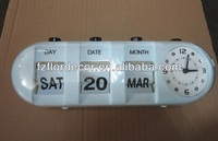 promotional Bullet flip clock with calendar Table Auto Flip Calendar Clock plastic flip table clock