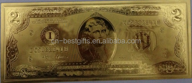 Hot new products 24k gold foil banknotes