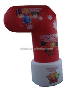 holiday party decoration inflatable christmas stocking