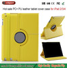 china wholesale Hot products PU protect case for ipad2 3 4 rotation case orange color