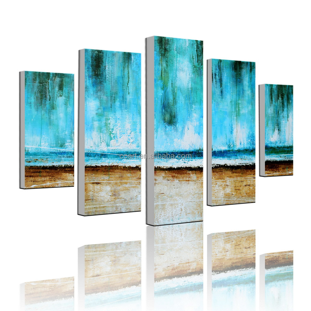Hand-painted Modern Abstarct Canvas Seascape Art Oil Painting