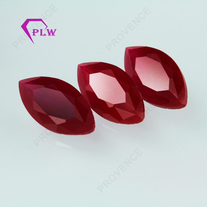 Marquise cut hot sale created corundum ruby gem prices