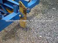 SAFETY DEVICE FOR RUPTURE OF CABLE JIB TROLLEY