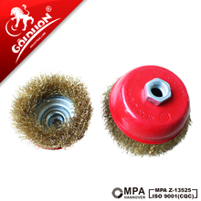 GOLDLION custom industry crimped mini steel wire polishing grinder cup brushes