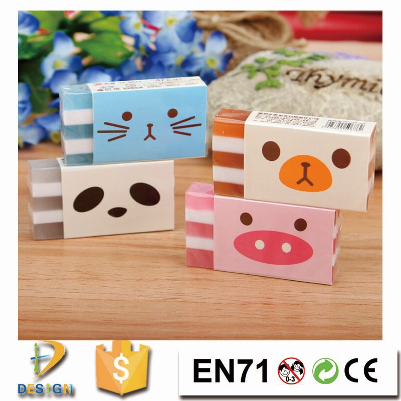 2017 trending products taobao Hot Sale cheap school supplies pure style promotion stationery office strip eraser for students