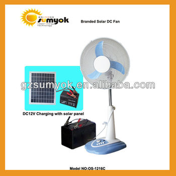 Solar powered pedestal cooling fan 15W 16inch OS-1216C