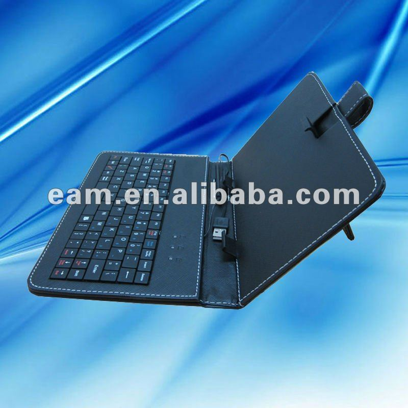 "Wired keyboard leather case for 7"" tablet pc with USB"