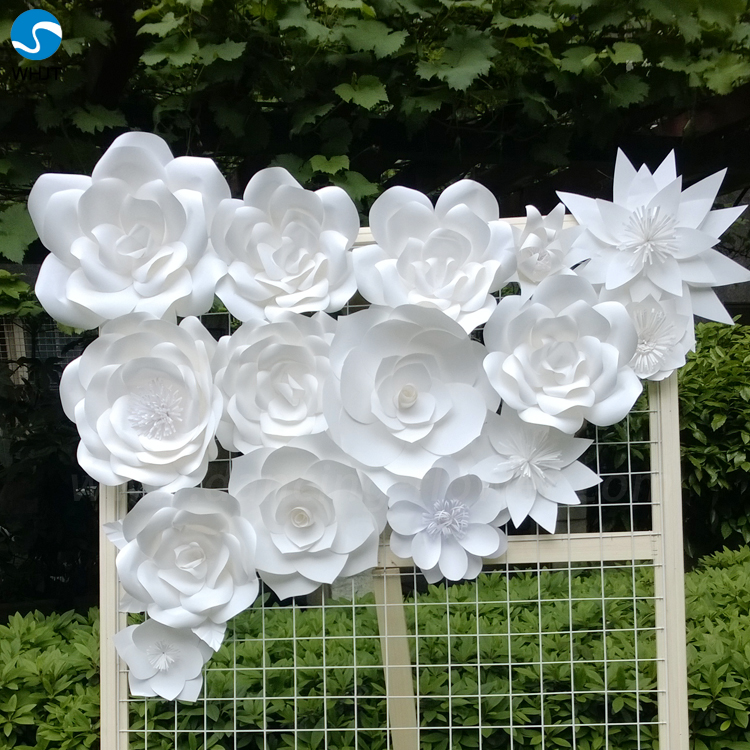 Decorative Flowers & Wreaths Type Artificial paper Wall Flower For ...