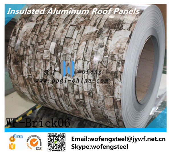 insulated aluminum roof panels/color roof sheets/stone coated metal roof material