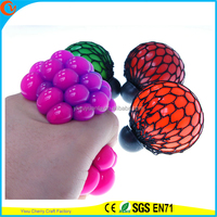 Hot Selling Novelty Design TPR Squishy Mesh Ball