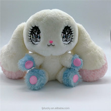 New design big eyes rabbit plush toys and stuffed cute custemer toys for kids