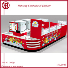 High quality pop corn retail kiosk design for sale with baking paint
