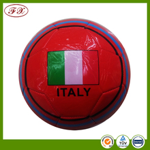 National flag colorful PVC machine stitched size 5 soccer ball for promotion
