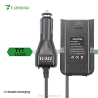 12-24V Mobile Car Charger for TYT Two Way Radio 2000mAh Battery Eliminator Walkie Talkie accessories