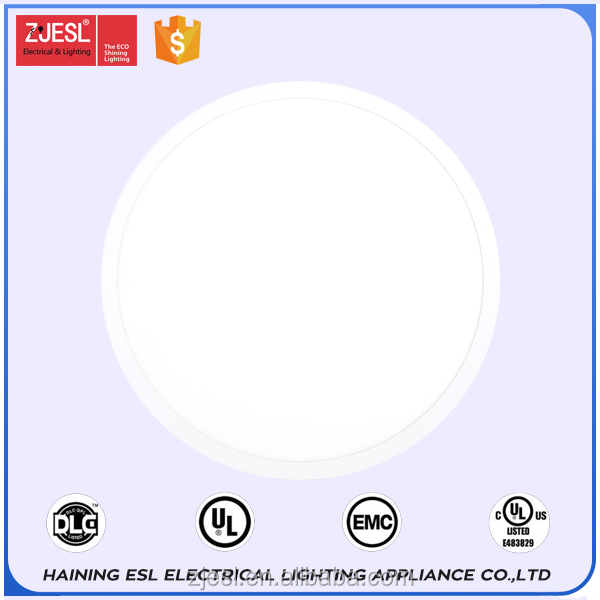 super bright surface mount ceiling led round panel light with DLC&UL