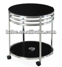Coffee table glass with wheels