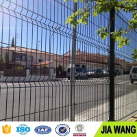 1.5m X 2.5m 4.0mm 50mm X 100mm Decorative Metal Garden Gates / Curvy Welded Mesh Fence