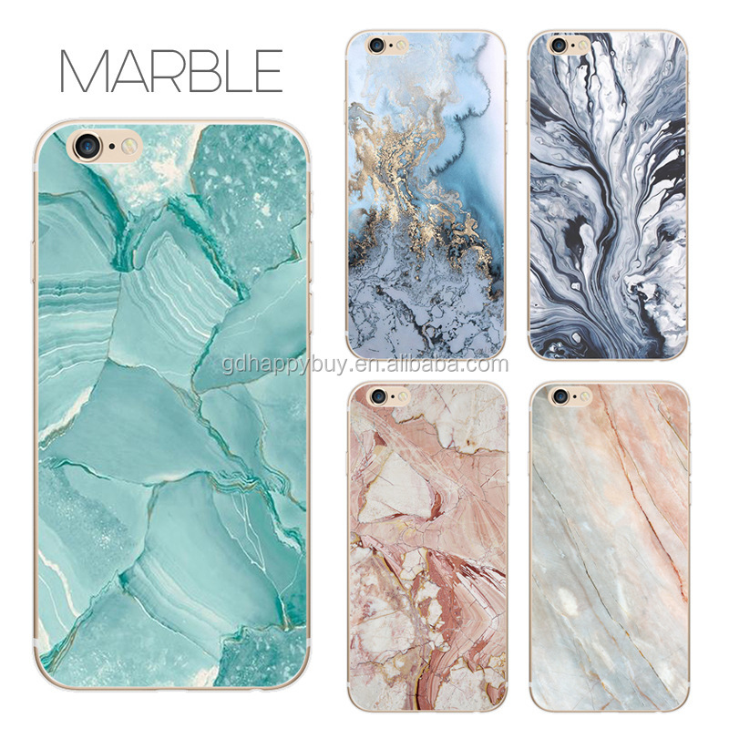 TPU or PC color printing nature marble phone case for iphone 6 7