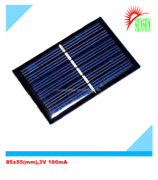 Epoxy resin 0.5W 3V 160mA mini solar panel