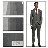 Men's Suit Fabric in 100% Wool for Summer