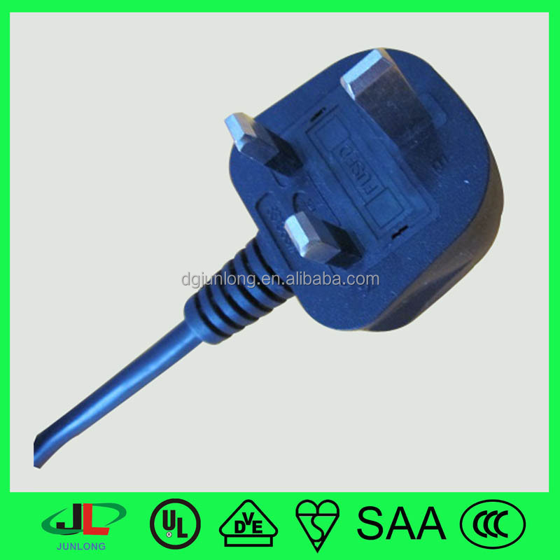 assemble and install of BS1363 BS 3 pin plug with fuse 13A