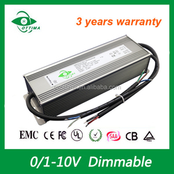 waterproof Constant voltage 180W 12Vdc dimming led driver with pwm