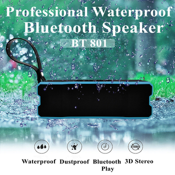 10W Swimming Pool Bluetooth tereo Speaker BT 801 Microphone AUX Input