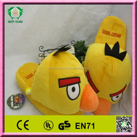 Various plush animal feet slippers cheap cute cartoon soft winter house bird slippers