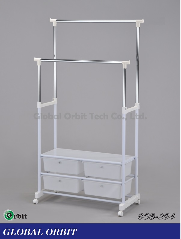 movable metal garment rack with storage rack buy clothes rackmovable metal garment rack with storage rackclothes hanger - Metal Clothes Rack