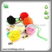 Rose folding bag for shopping&promotion