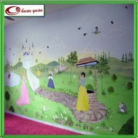 digital printing cartoon wallpaper for home decoration