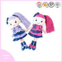 Factory direct sales Indoor plush toy valentine gift items rag dolls in jeans