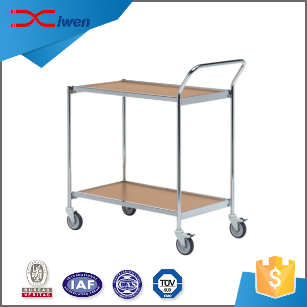 Wholesale ODM cheap 1 handle hand pull table trolley