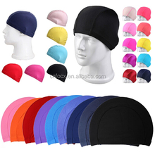 Colorful nylon swimming cap / Fabric Swimming Cap / Swim Cap Hat