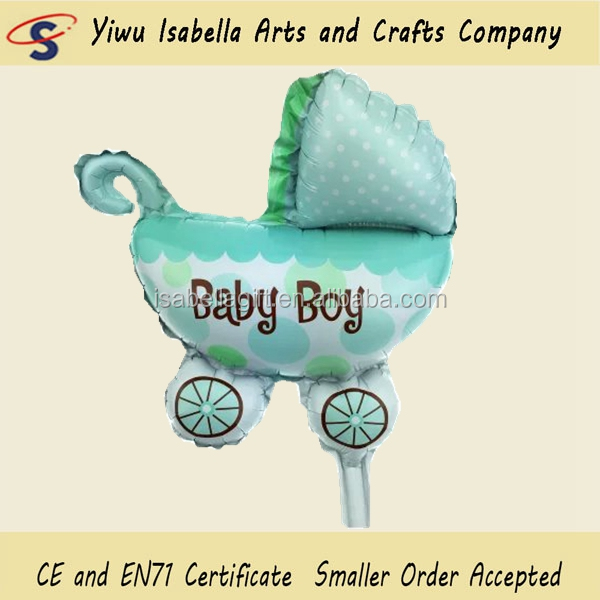 SuperShape Baby Boy Blue Polka Dot Pram Foil Balloon
