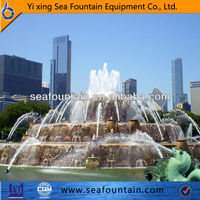 3 tier water fountain pond water fountains LED lights fountain water features