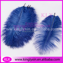 Fashion Blue Ostrich Feather Wholesale Wedding Centerpiece Ostrich Feather