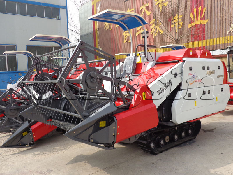 4LZ-2.0D rice and wheat combine harvester with double drum