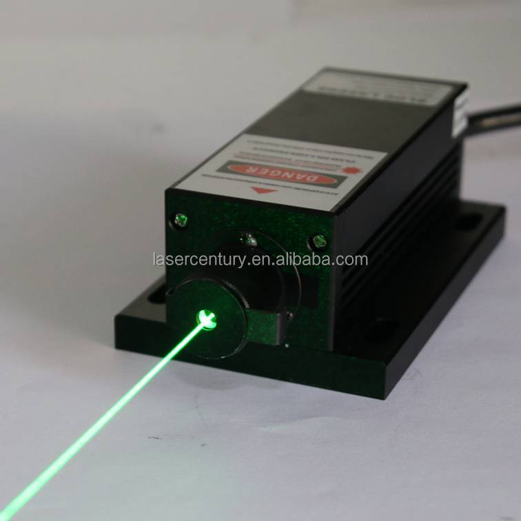 GL532T3H-100, Adjustable Power Supply ADR-700A, 100mW 532nm Green DPSS <strong>Laser</strong>, CW, 3% Power Stability
