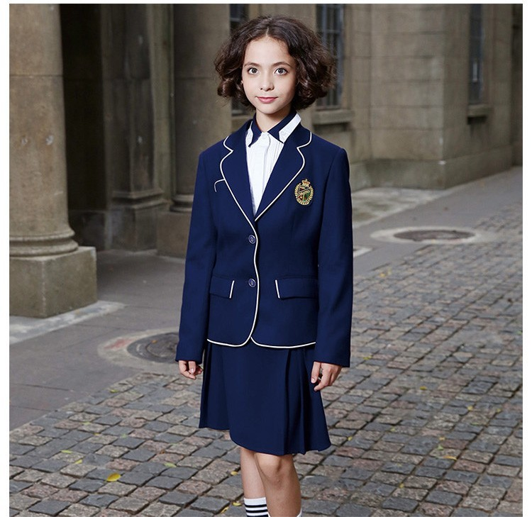 Navy Blue School Uniform Blazer Suit