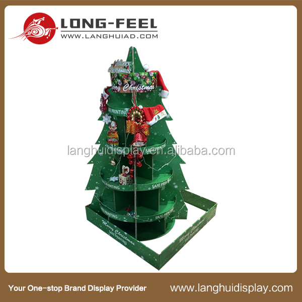 Christmas promotional cardboard tree display