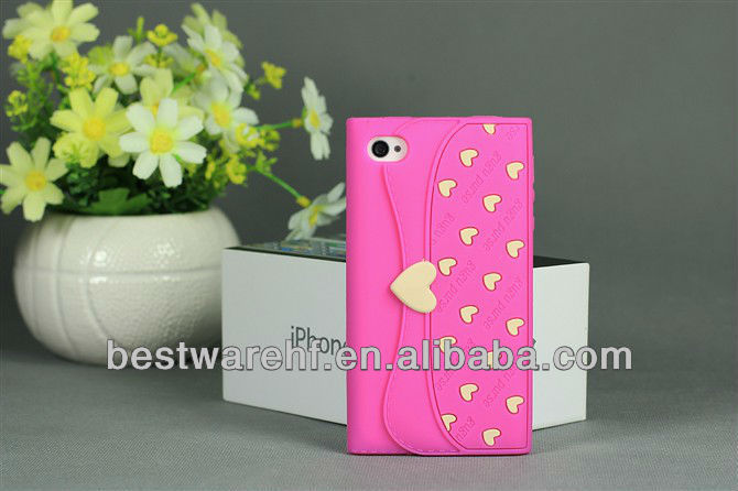 BAG shape silicone mobile phone case for apple iphone5