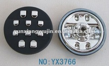 clothing metal snap buttons black