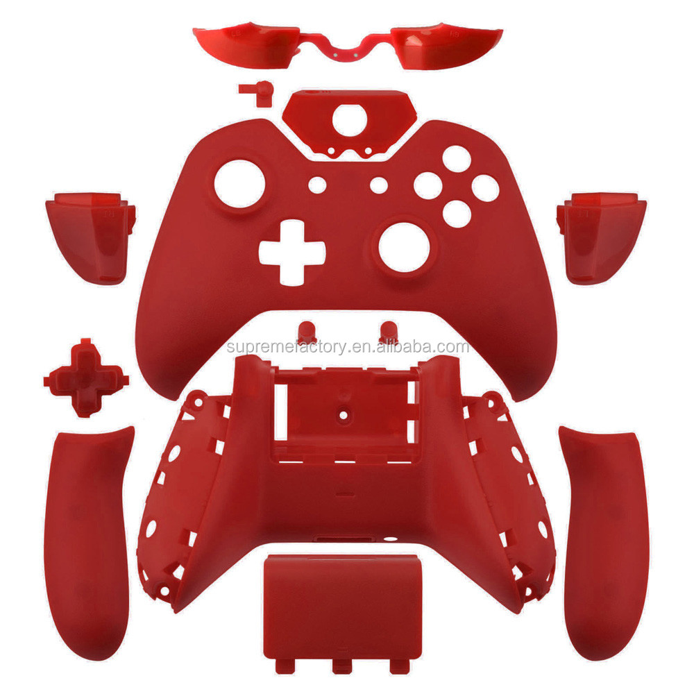 Red Matte Wireless Controller Shell & Unlock Tool for New Xbox One Controller with 3.5mm headphone Jack