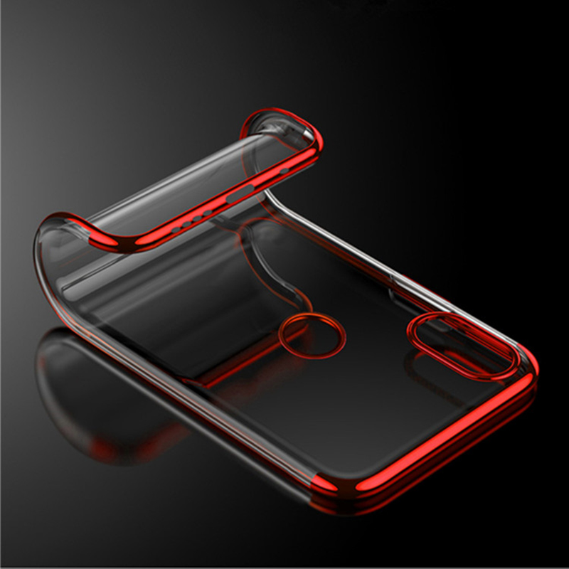 Mobile Phone <strong>Accessories</strong> For xiaomi note 6 pro Case TPU Clear For xiaomi for redmi note 6 Back Cover Plating phone cases