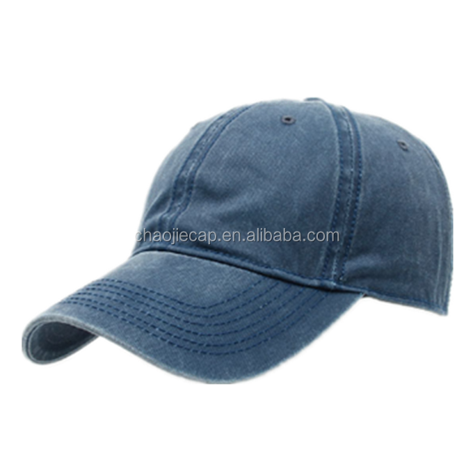 Plain Distressed Washed Cotton Adjustable Solid color Baseball Cap Unisex couple cap