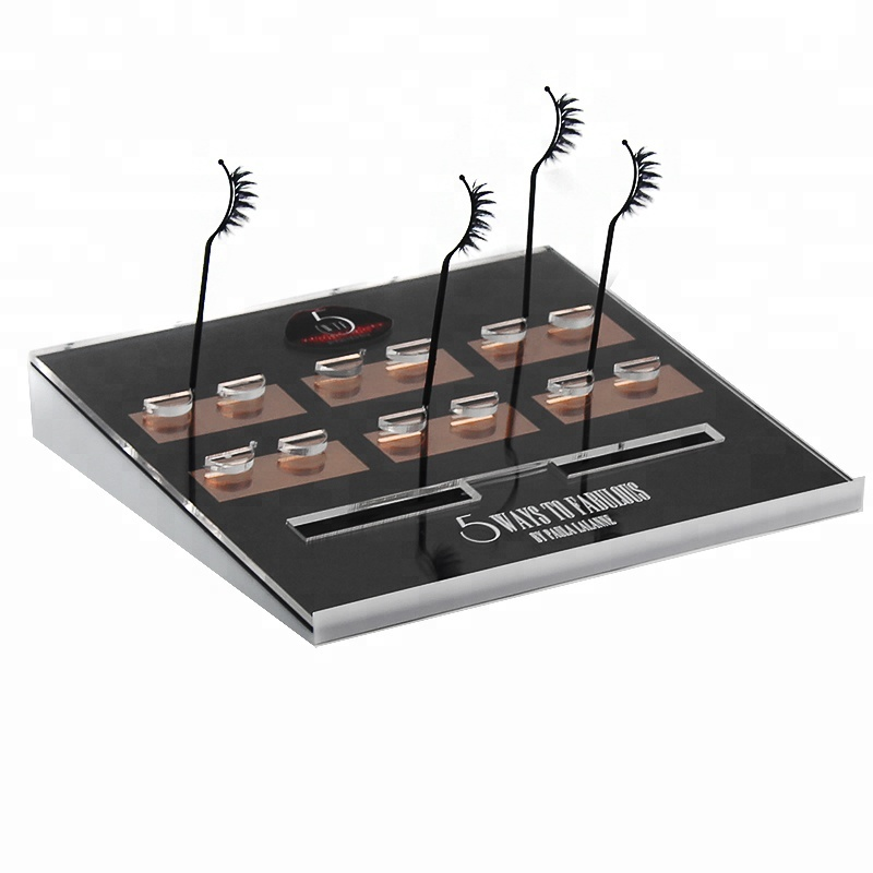 New Products 6 Pairs Acrylic Testers Lash Extensions Fancy Eyelash Display <strong>Stand</strong> with 6 Lash Stick
