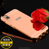 Many Models Avaliable MOQ 10pcs Each Color Electroplating Mirror Back Metal Bumper Aluminum Phone Case for HUAWEI honour 7i