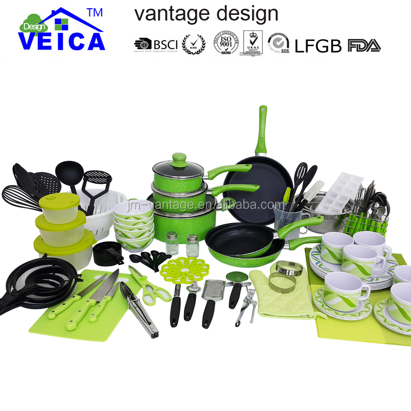 New Design 120 Piece Kitchen Starter Set/pots And Pans With Dinnerware And  Cutlery Set/cookware Kitchen Untnsils And Tools