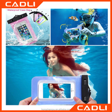 2016 fashion PVC outdoor waterproof swiming mobil phone bag diving phone case for cell phone